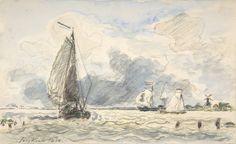 Johan Barthold Jongkind - Bateaux de pêche hollandais (1870)