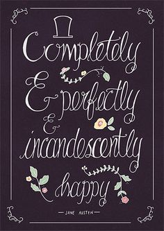 Jane Austen Quote Typography Poster Pride and by AbbieImagine