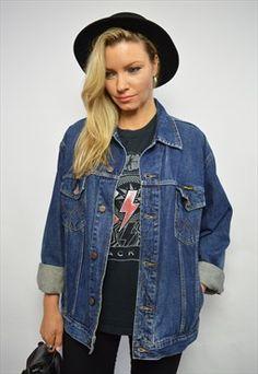 Vintage 90s Wrangler Blue Wash Denim Jacket Retro Grunge