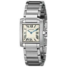 Cartier Women's W51008Q3 'Tank' Silver Watch