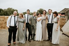 Charlotte and James sweet friends might be the cheeriest wedding party we have ever seen   | Image by  Lauren Scotti Photography