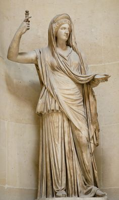 Hera/Juno - Queen of the gods and the goddess of marriage and family. Symbols include the peacock, pomegranate, crown, cuckoo, lion and cow. Youngest daughter of Cronus and Rhea. Wife and sister of Zeus.