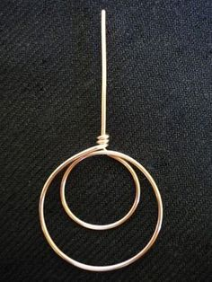 how to make a double circle shape, can be used for earrings Great demo I use fre...