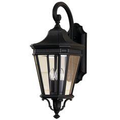 Fluted Trim Outdoor Light - 3 Light
