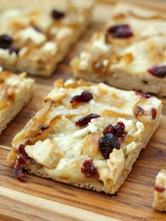 White Pizza Recipe with Chicken, Caramelized Onions, and Cranberries - Make it all from scratch or with shortcuts for a quick dinner!