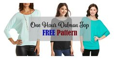 For a dolman sleeve tee, check out the One Hour Top FREE pattern from Fancy Tiger Crafts XS-XXL. This knit top can be made in the blink of an eye. With just two pieces and simple construction, it is as … Read More