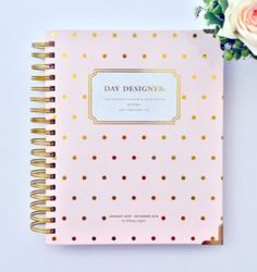 The Day designer by Whitney English - special cover design blush pink with gold dots - colalboration with Belle and Blush. 2016 Planner Reviews - how to choose the one that's right for you.