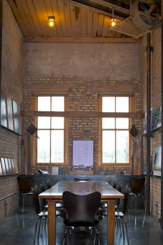 Freight elevator - conference room   Northworks Architects + Planners