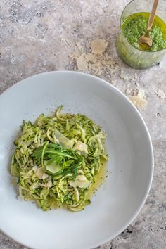 Skinny bi*ch low carb pasta with rocket pesto | The Lifestyle Directory