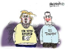 Best Donald Trump Cartoons: Pointing Fingers