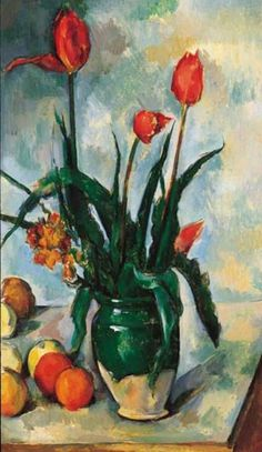 "Paul Cézanne, ""Tulips in a Vase"", 1888–1890"