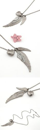 Angel Wing Charm Necklace $10 #angel #wing #pendant #angelwingpendant