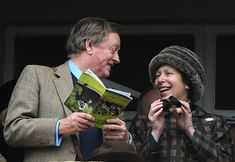Andrew Parker Bowles and Princess Anne, the Princess Royal watch a race on Gold Cup day at the Cheltenham Festival on March 2009 in Cheltenham, England. Get premium, high resolution news photos at Getty Images Princess Anne, British Royals, Camilla, Beanie, Cheltenham England, March, Gold Cup, Fashion, Moda