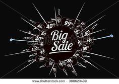 Big sale promo department store. Big sale banner. Vector illustration. - stock vector