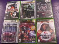 6 games for Original Xbox Fight Night Round 2 Mechassault Mortal Komba