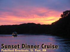 Sunset Dinner Cruises on the Mississippi in St. Paul, MN
