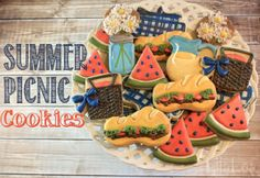LilaLoa: Summer Sandwiches for a Summer Picnic Party {Sandwich Cookie Tutorial}