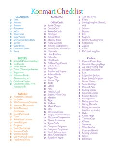 the ultimate free printable decluttering checklist for konmari success the o 39 jays love this. Black Bedroom Furniture Sets. Home Design Ideas