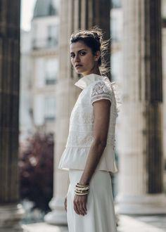 Top Eustache et jupe Lincoln, Laure de Sagazan : Les plus belles robes de mariée 2016 - Journal des Femmes