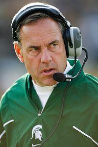Mark Dantonio MSU Head Football coach.      From Zanesville