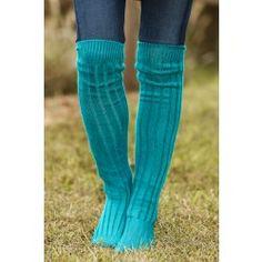 Reddress // Tall Order Boot Socks-Jade - $20.00