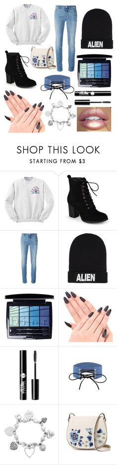 """""""Aesthetic Outfit 💙💜🖤"""" by oliviaballard04 ❤ liked on Polyvore featuring Prada, Journee Collection, Givenchy, Nicopanda, Christian Dior, Charlotte Russe, ChloBo and French Connection"""