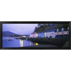 'Portree Isle Of Skye Scotland' Framed Panoramic Photo