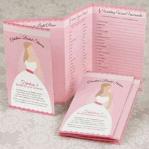 Fabulous 5 - Pink Personalized Bridal Shower Games - I just love the idea of having all the games in a booklet. Hmmmm...