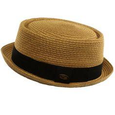 b6c2cbd4dbc Men s Cool Summer Straw Pork Pie Derby Fedora Upturn Brim Hat Toast 58cm  LXL at Amazon