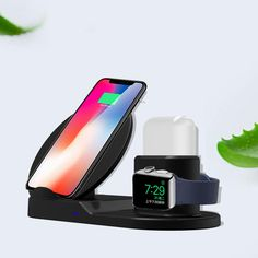 3 In 1 Qi Wireless Charger Phone Charger/Watch Charger/Earphone Charger For Smart Phone/iPhone/Apple Watch Series/Apple AirPods Apple Watch Serie 1, Apple Watch 1, Apple Watch Battery, Apple Watch Accessories, Ipad Accessories, Iphone 8 Plus, Apple Iphone, Airpods Apple, Charger Holder
