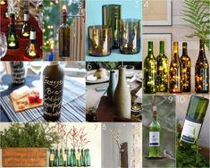 10 DIY Recycled Wine Bottles