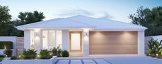 Modern House Facades, Modern House Plans, House Front Design, Modern House Design, Brighton Houses, Small Modern Home, Modern Ranch, House Elevation, House Entrance