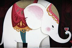 fantastic elephant line-art style (Elephant in the Room by Brittney Lee)