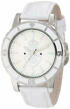 Rhino by Marc Ecko Women's E8M036MV Bold Graphic Detailed Watch Rhino by Marc Ecko. $48.75. White enamel top ring with silver accents. 3 hand analog. Silver hour/minute hands with white luminescent infill. Water-resistant to 100 M (330 feet). Silver checkerboard pattern dial with ecko emblem crest graphic; white croco grain genuine leather strap