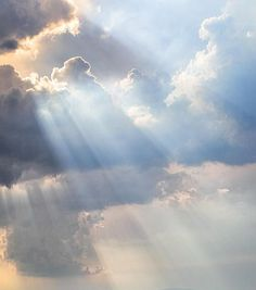 Whenever I see rays coming from clouds, I think of God's glory radiating down from the heavens.