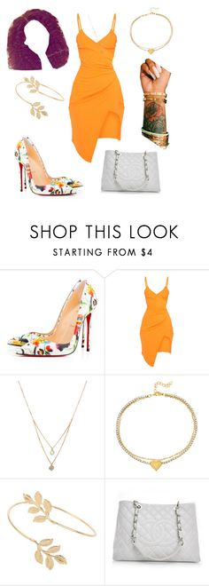"""""""Untitled #584"""" by thisisarisworld ❤ liked on Polyvore featuring Christian Louboutin, Forever 21, SteelTime, Miss Selfridge and Chanel"""
