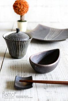 しずく小鉢(茶)/作家「奥田章」/和食器通販セレクトショップ「flatto」