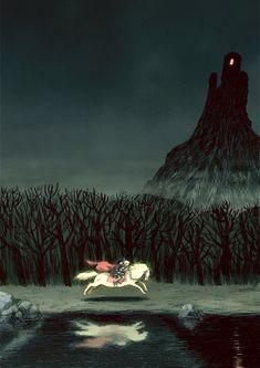 Mikkel Sommer's illustration for 'Mio, my son' , by Astrid Lindgren Hansel Y Gretel, Art Sculpture, Fairytale Art, Art Graphique, Children's Book Illustration, Traditional Art, Art Inspo, Book Art, Fairy Tales