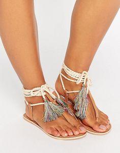 Asos - sandales en cuir lacée - taille 37 - 24e