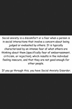 I'm socially awkward, introverted, and suffer social anxiety?