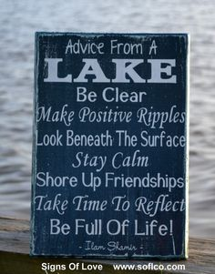 lake sign house décor advice from a lake gift carova beach crafts poem quote saying wood cabin lodge wall art inspirational life living home teal plaque rustic