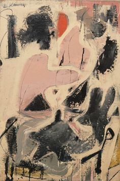 "Willem de Kooning (American, born the Netherlands, 1904–1997).  Valentine.  Date: (1947). Medium: Oil and enamel on paper on board, dimensions:36 3/8 x 24 1/4"" (92.2 x 61.5 cm). Credit Line: Gift of Mr. and Mrs. Gifford Phillips MoMA Number:1093.1969Copyright:© 2014 The Willem de Kooning Foundation / Artists Rights Society (ARS), New York"