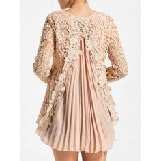SHARE & Get it FREE | Long Sleeve Pleated High Low Lace BlouseFor Fashion Lovers only:80,000+ Items·FREE SHIPPING Join Dresslily: Get YOUR $50 NOW!