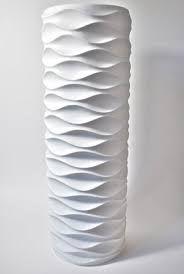 Massive Modernist Matte White Porcelain Floor Vase by Edelstein Germany Vintage Vases, Vintage Pottery, Ceramic Vase, Ceramic Pottery, White Porcelain, Porcelain Floor, Mid Century Decor, White Vases, Modern Ceramics