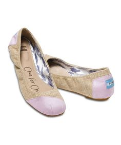 Take a look at this Burlap Rose Ballet Flat on @zulily today!