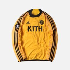 Kith x adidas Soccer Goalie Jersey - Cobras Soccer Goalie, Sports Uniforms, Adidas Football, Adidas Logo, Motorcycle Jacket, Street Wear, Jackets, How To Wear, Outfits
