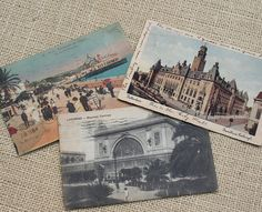Vintage postcards for guests to write well wishes at a wedding....
