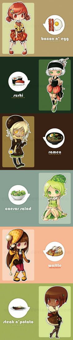 Food in anime (chibi) form Manga Anime, Me Anime, I Love Anime, Anime Chibi, Manga Art, Anime Art, Kawaii Chibi, Cute Chibi, Kawaii Anime