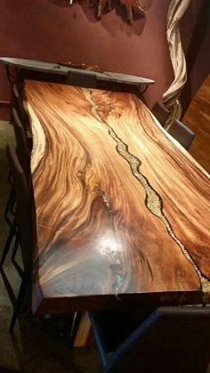 Amazing Resin Wood Table For Your Home Furniture 10