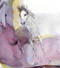 "Saatchi Art Artist: Sylvia Baldeva; Painting 2012 New Media ""Galloping horse"""